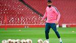 El Atlético, en Londres con la duda de Costa