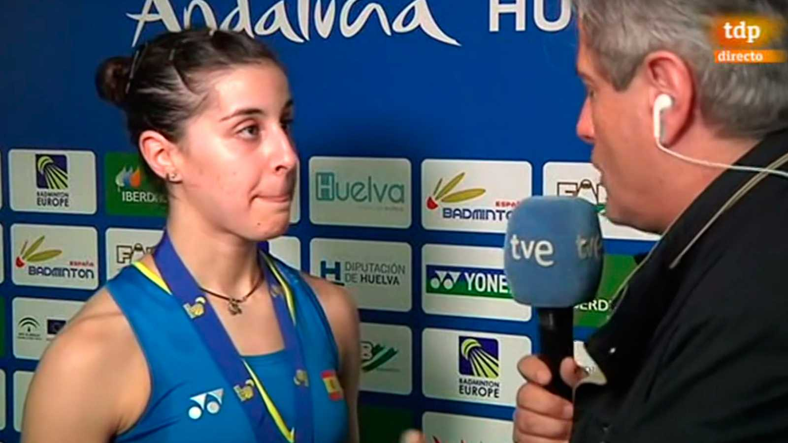 "Carolina Marín, tras su cuarto título europeo: ""Soñaba con este día"""