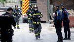 Continúan las labores de búsqueda de los dos obreros desaparecidos en el derrumbe de un edificio en Madrid