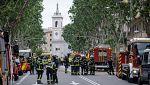 Siguen buscando a los obreros desaparecidos en el derrumbe de un edificio de Madrid con ayuda de un robot
