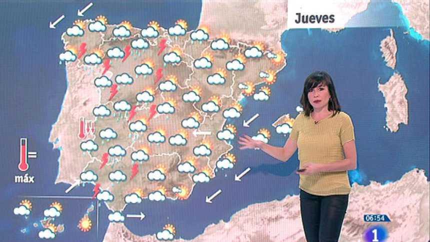 Este jueves habrá lluvias en Galicia, Cantabria, S. Central, Extremadura y Andalucía