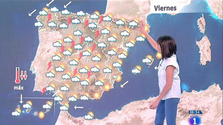 Las fuertes tormentas se repetirán este viernes en gran parte de la península
