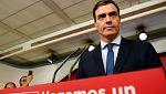 Avance informativo - Pedro Sánchez comparece tras la moción de censura a Rajoy