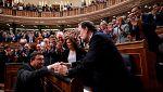 Los partidos de izquierdas apoyan la moción a Rajoy, mientras PNV, CC y Bildu la van a analizar