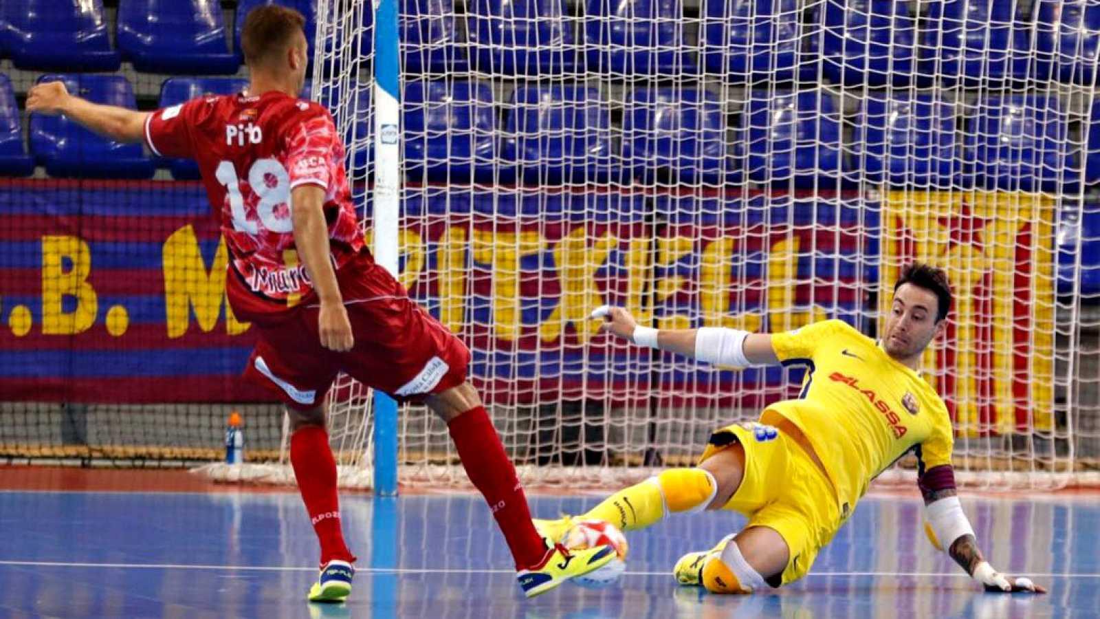El Barça logra el primer punto de la eliminatoria ante ElPozo. El Inter gana con facilidad a Jaén