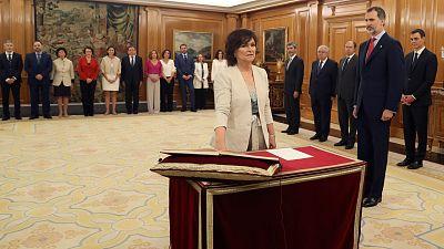 """Carmen Calvo da ejemplo a sus compañeras prometiendo su puesto en el """"Consejo de Ministras y Ministros"""""""