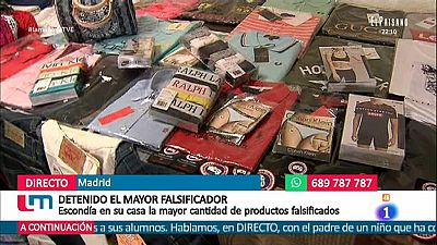 Detenido en Madrid el mayor distribuidor de falsificaciones