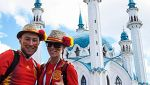 Minoría española en las gradas de Kazán