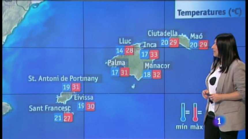 El temps a les Illes Balears - 21/06/18