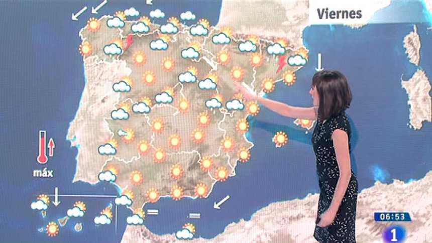 Sol, calor y lluvias aisladas en el oeste peninsular