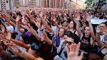 Miles de personas protestan por la liberación de los miembros de La Manada