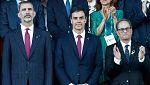 Tarragona 2018. Frialdad entre el Rey y Torra en la inauguración de los Juegos Mediterráneos