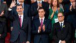"""El Govern denuncia que se """"seleccionó"""" al público de los Juegos Mediterráneos que abucheó a Torra"""