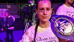 La boxeadora española Joana Pastrana, campeona del mundo del peso mínimo