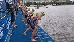 Triatlón - ITU World Series. Carrera Élite Femenina Sprint. Prueba Hamburgo (Alemania)