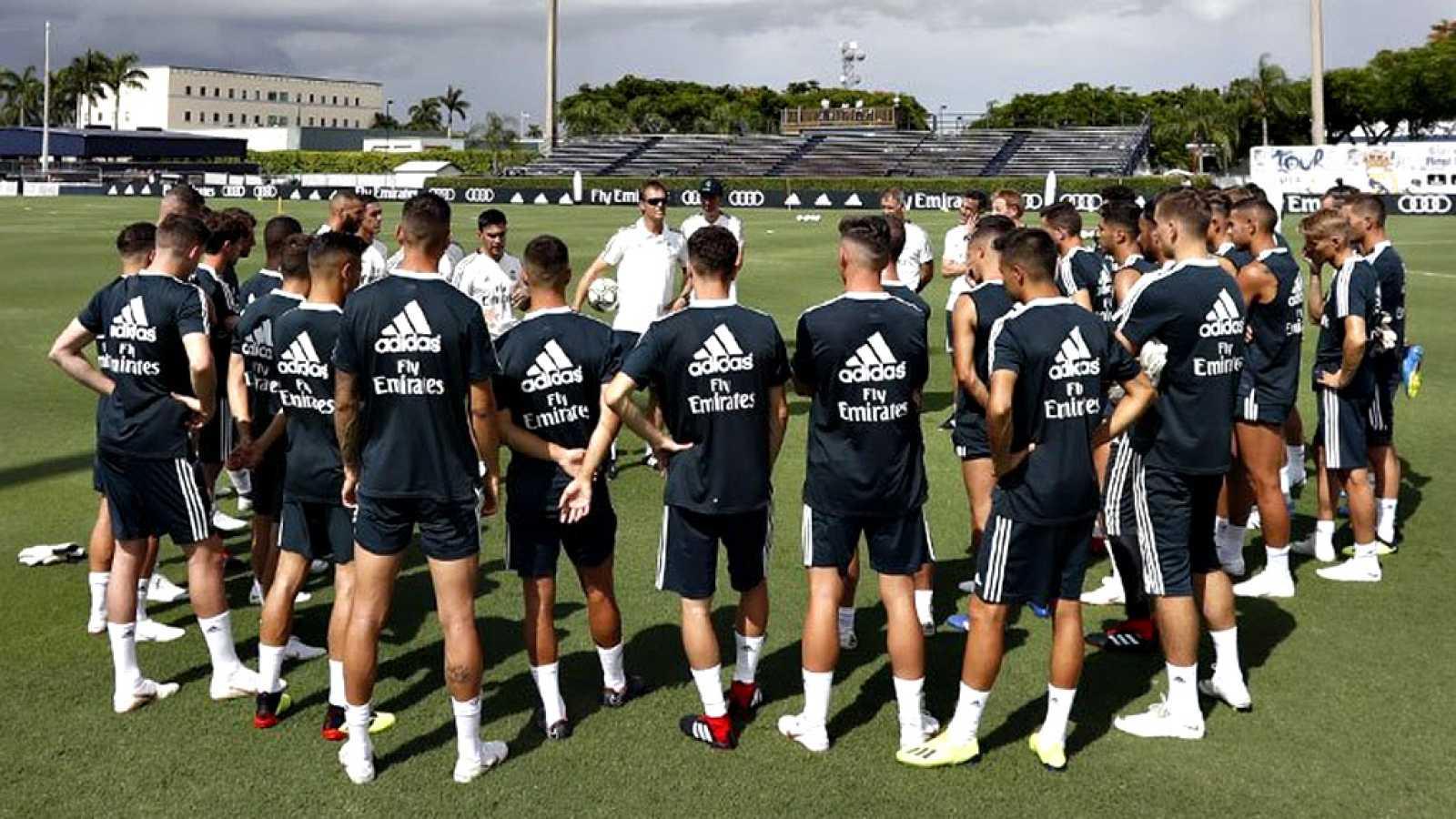 d81217eea3fdd El Real Madrid ya entrena en Miami a pesar de las tormentas ...