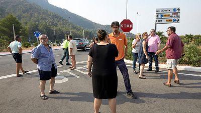 Decenas de vecinos afectados por el incendio de Llutxent (Valencia) podrían haber perdido sus casas