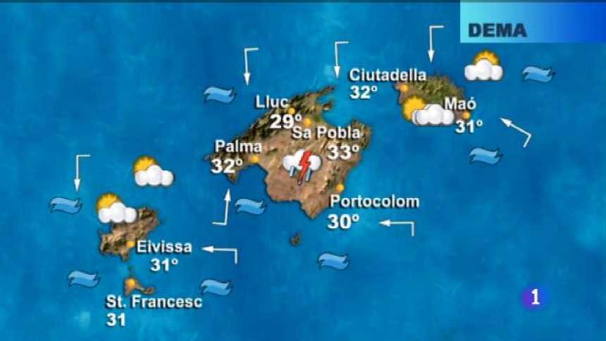 El temps a les Illes Balears - 21/08/18