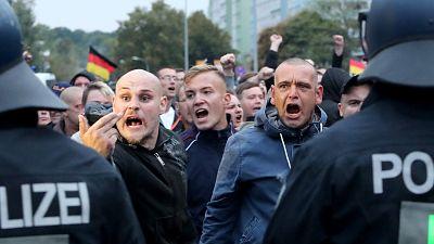 Tensión en Chemnitz por una marcha de ultraderechistas
