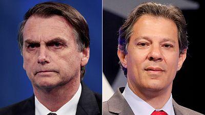 Bolsonaro se queda a un paso de la presidencia de Brasil y habrá segunda vuelta con Haddad