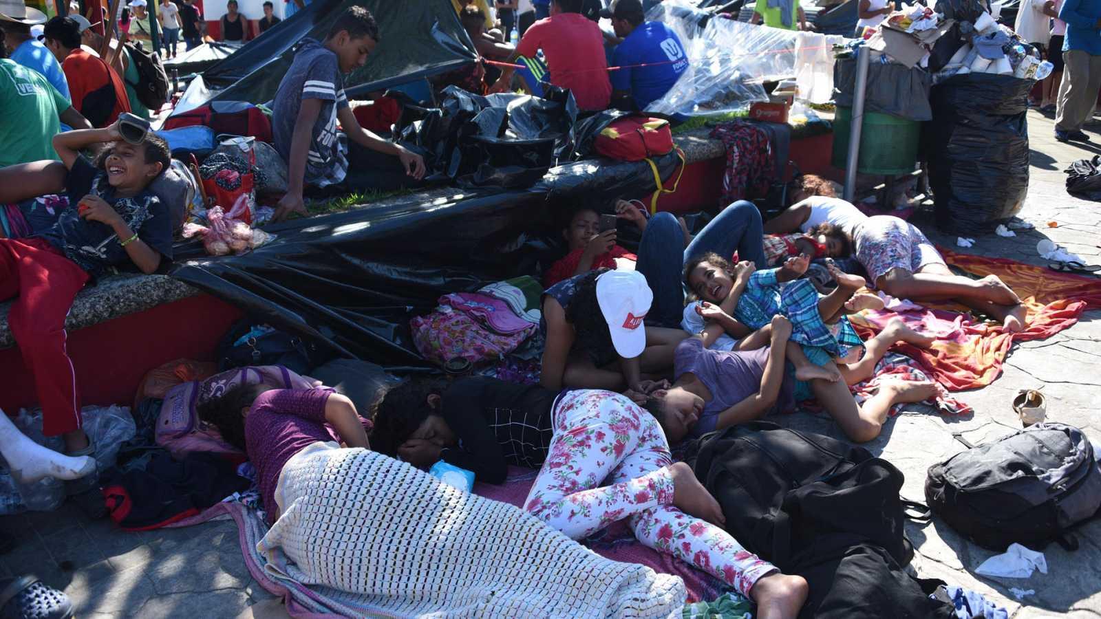 Resultado de imagen para caravana hondureña