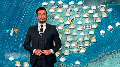 Nieve por encima de los 600 metros en el norte y lluvia en Baleares