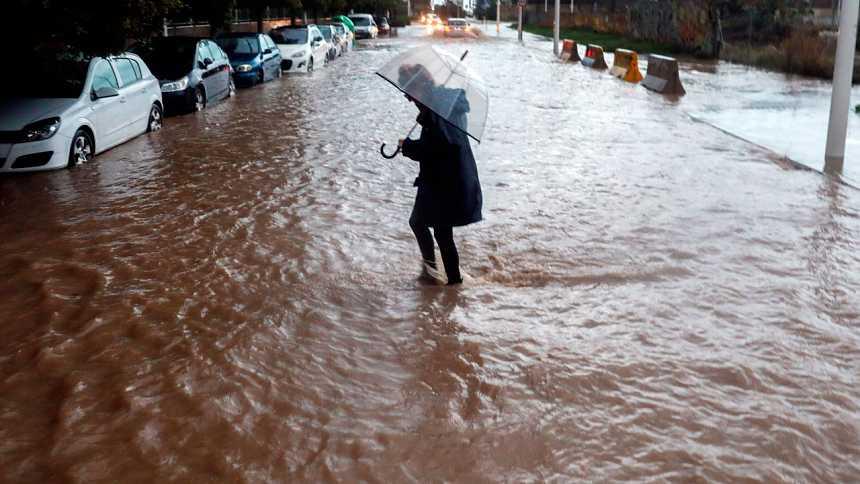 Hoy, lluvias fuertes en Andalucía, Comunidad Valenciana y Cataluña