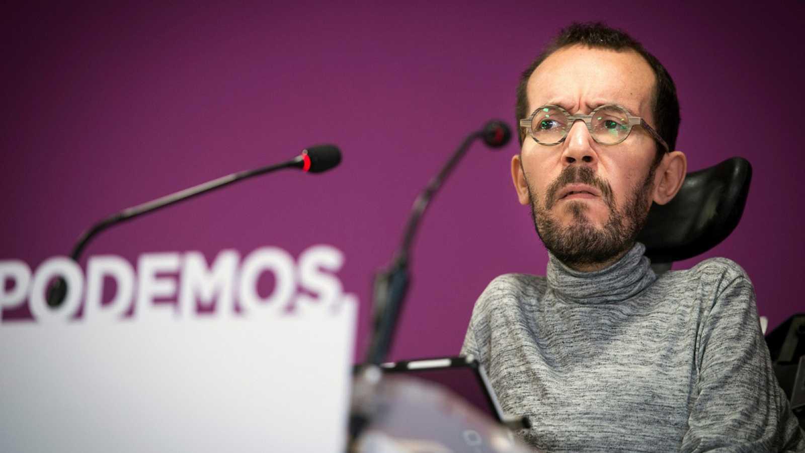Echenique pide a Errejón que dimita pero no cierra la puerta a negociar con Más Madrid