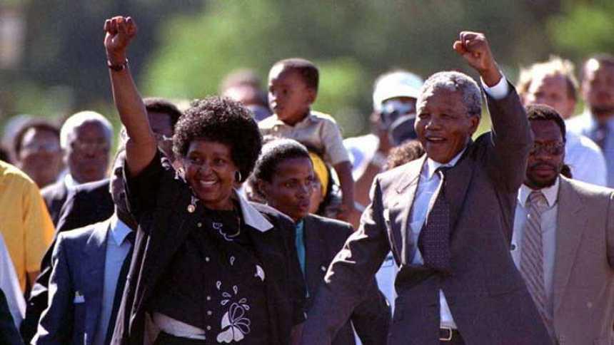 Jura de Nelson Mandela como nuevo presidente de Sudáfrica en 1994