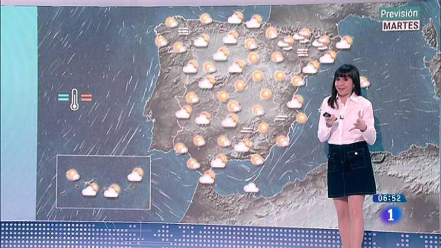 Hoy, cielos nubosos en península, Ceuta y Melilla y lluvias en Cantábrico