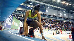 Salma Paralluelo, segunda mujer más joven en participar en un Europeo en pista