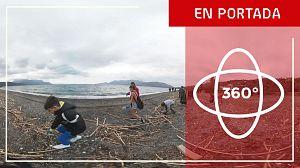 Limpieza en 360º de la Playa Metamorfosis, en el Peloponeso