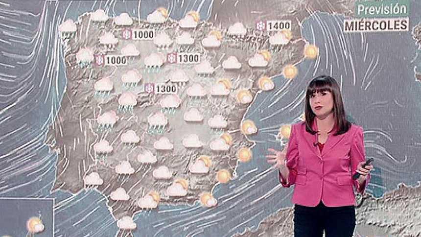 Lluvias y fuerte viento en el centro y norte peninsular