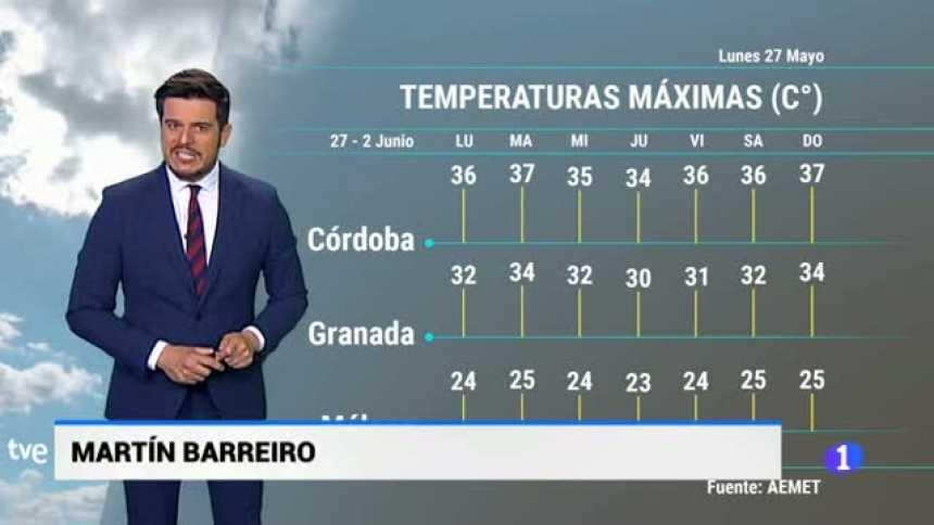 El tiempo en Andalucía - 27/05/2019