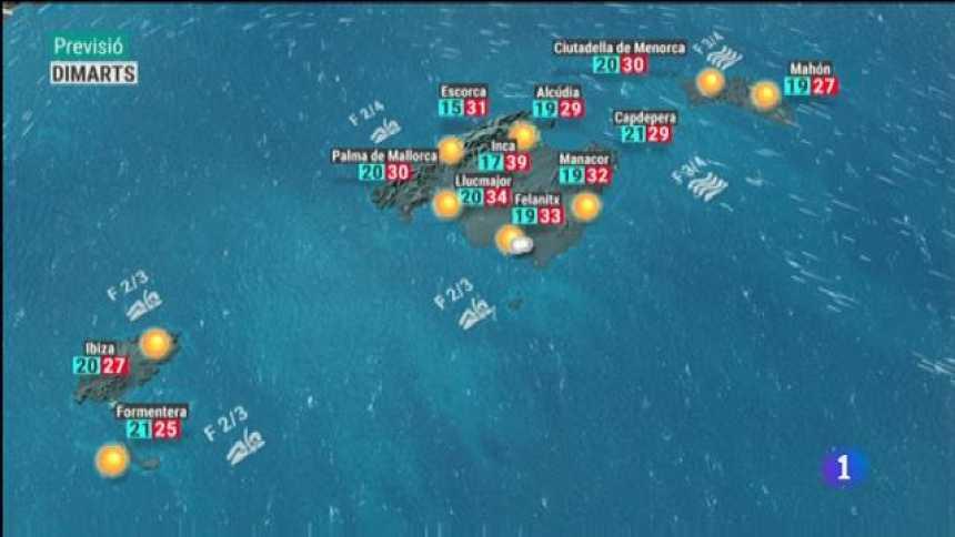 El temps a les Illes Balears - 24/06/19