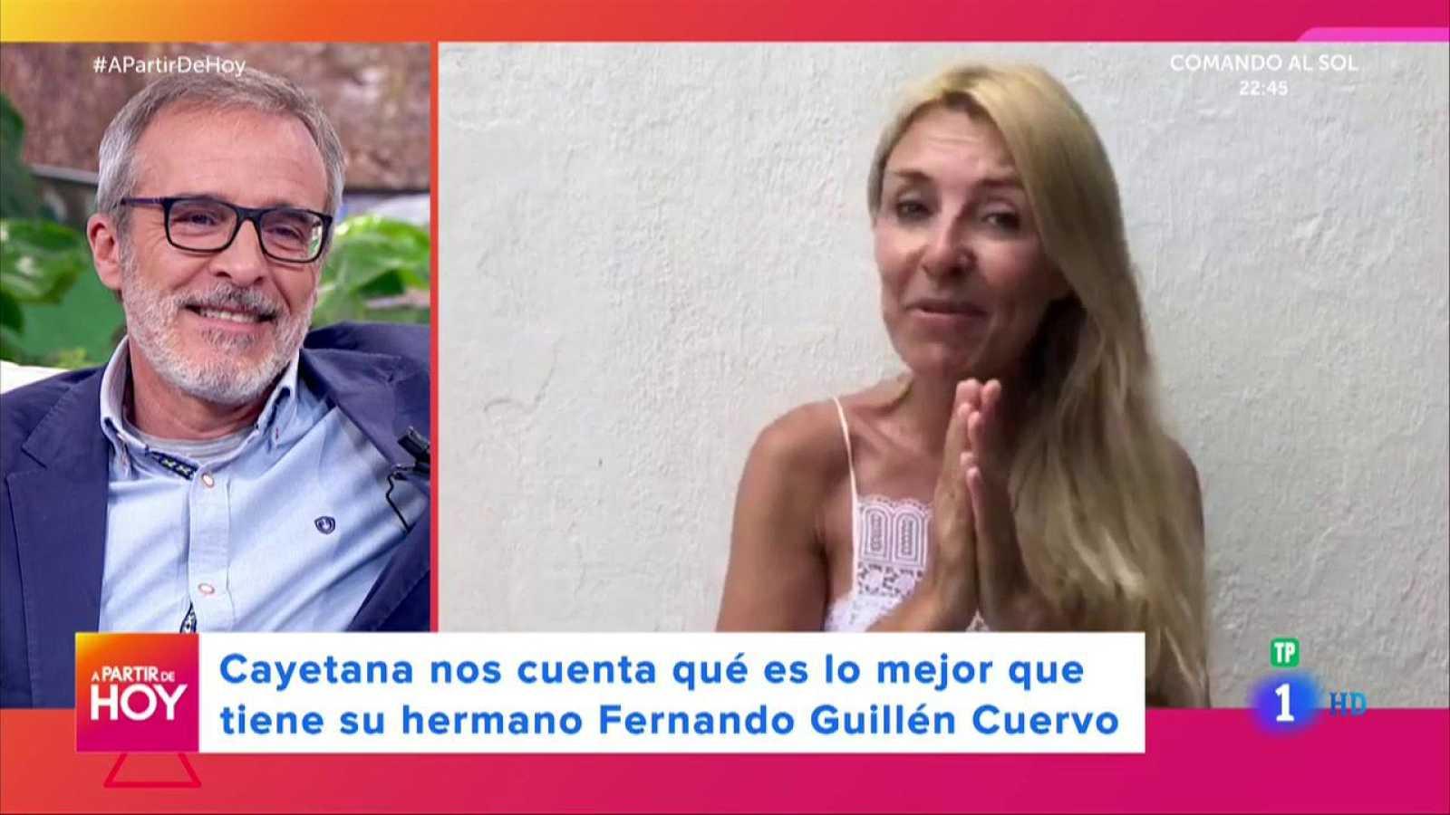 A Partir De Hoy Cayetana Guillén Cuervo Soprende A Su Hermano Fernando En Directo