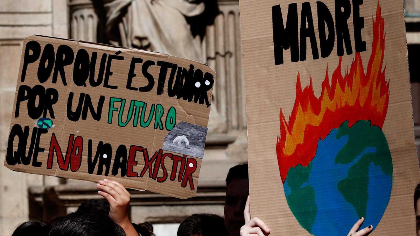 Resultado de imagen de manifestaciones por el clima en españa