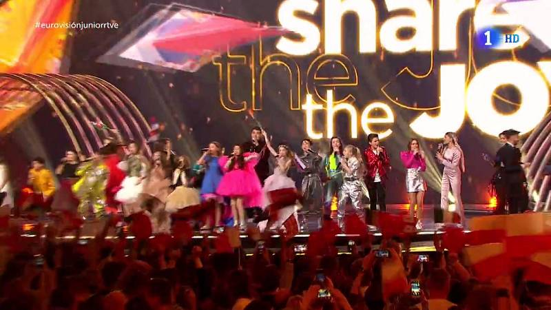 "Eurovisión Junior 2019 - Los países participantes interpretan ""Share the joy"""