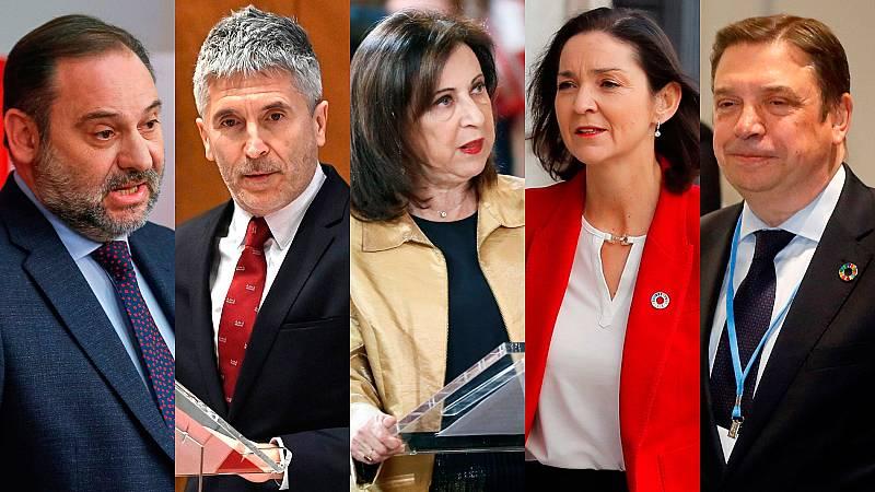 Ábalos, Marlaska, Robles, Maroto y Planas seguirán en el Gobierno