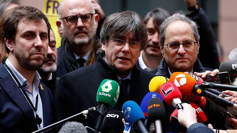 """Puigdemont, antes de recoger su acta de eurodiputado: """"La crisis catalana ha impactado en los cimientos de la UE"""""""