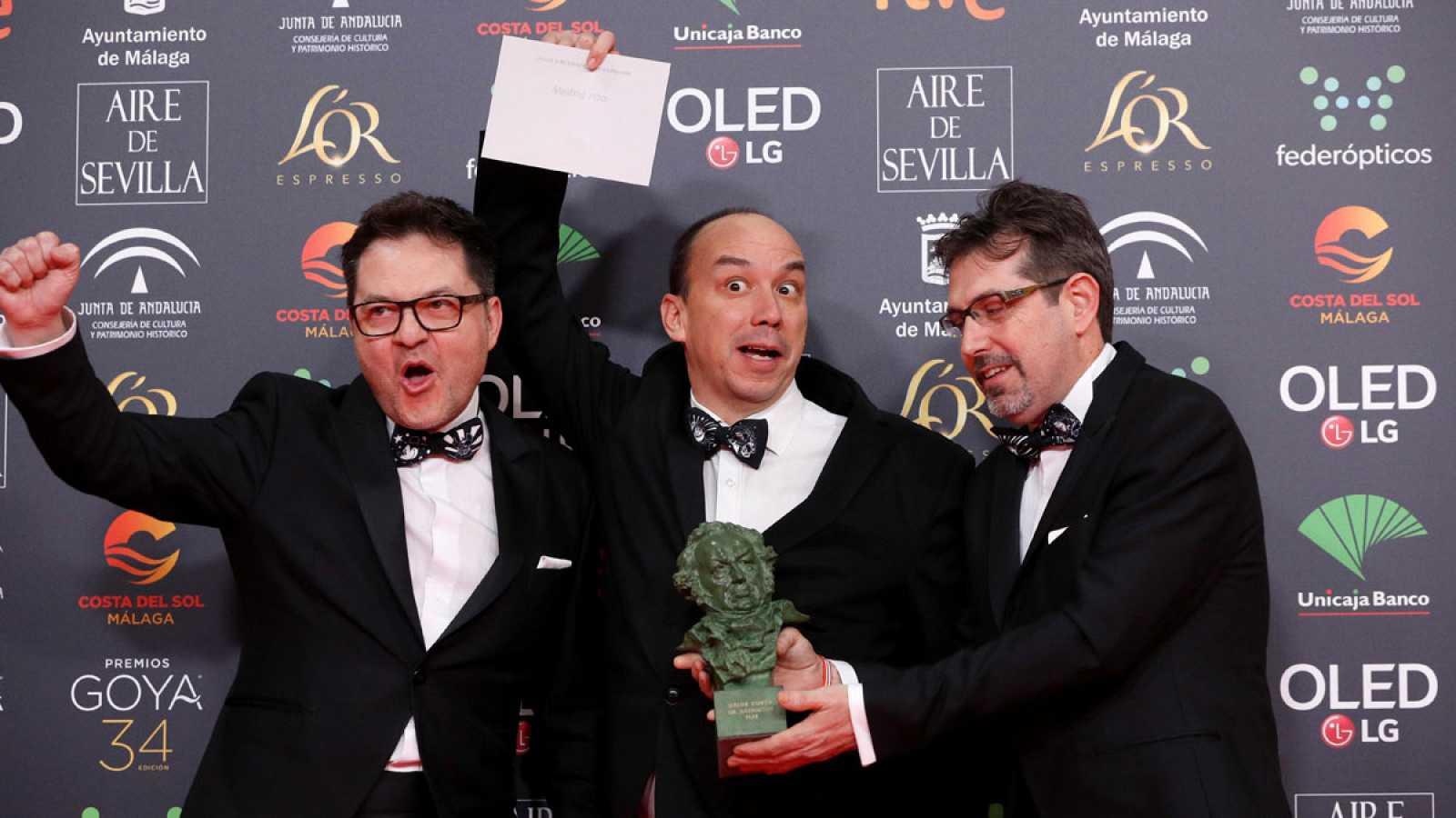 Las pajaritas más divertidas recogen un Goya