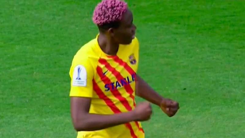 Oshoala ha firmado su doblete en la final de la Supercopa al marcar el séptimo tanto de la final en una jugada individual.