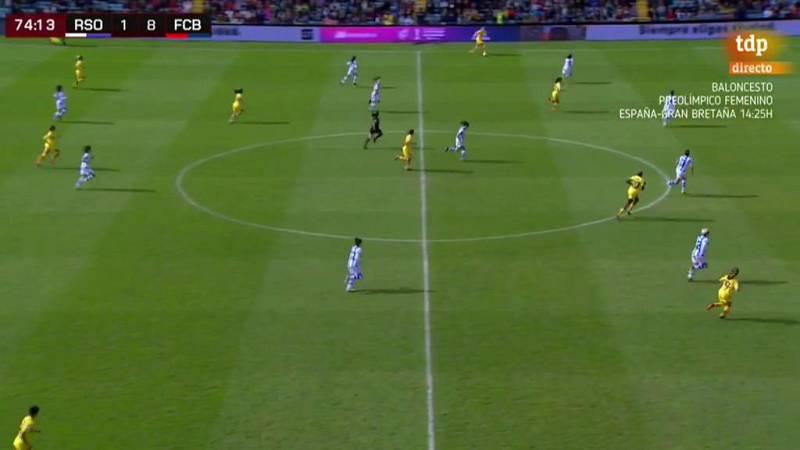 Gol de Candela (1-9) en la final de la Supercopa