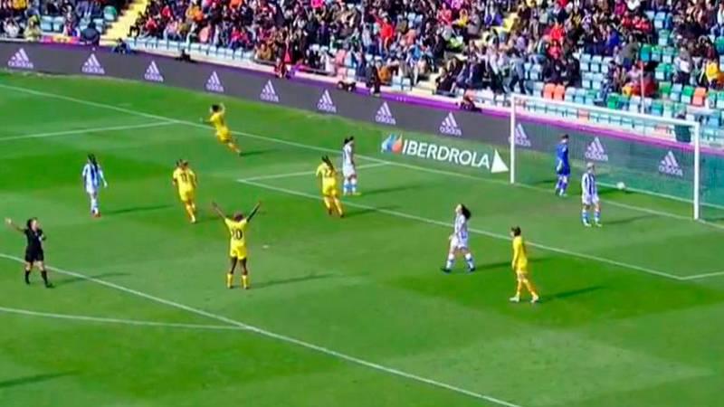 Gol de Marta Torrejón (0-8) en la final de la Supercopa