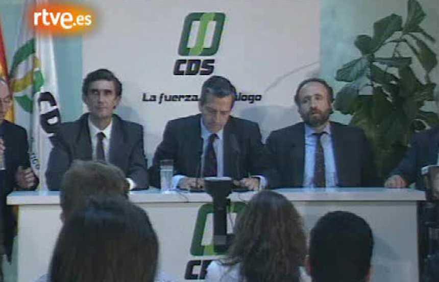 Dimisión de Adolfo Suárez como presidente del CDS (1991)