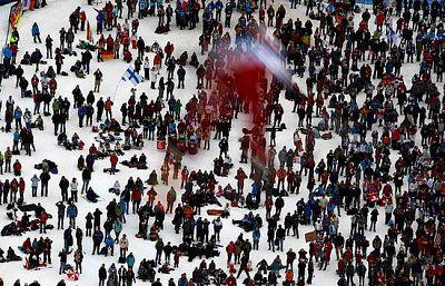 No todo en unos Juegos Olímpicos de invierno son competiciones, también hay espacio para el amor, la risa, etc.