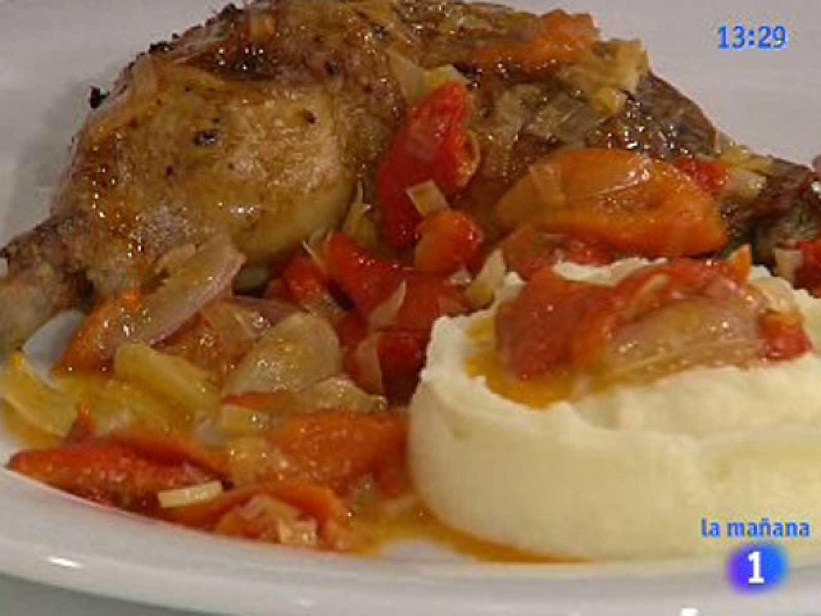 Saber cocinar - Pollo asado con salsa de uvas