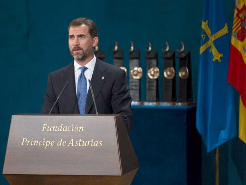 El Príncipe Felipe pronuncia en Oviedo un discurso realista pero cargado de confianza en el futuro