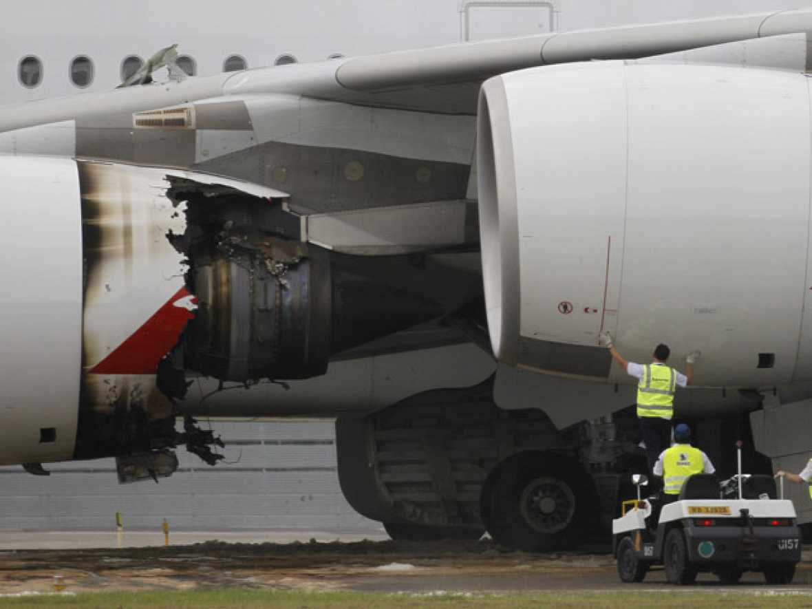 Primera avería grave en vuelo de un Airbus A380