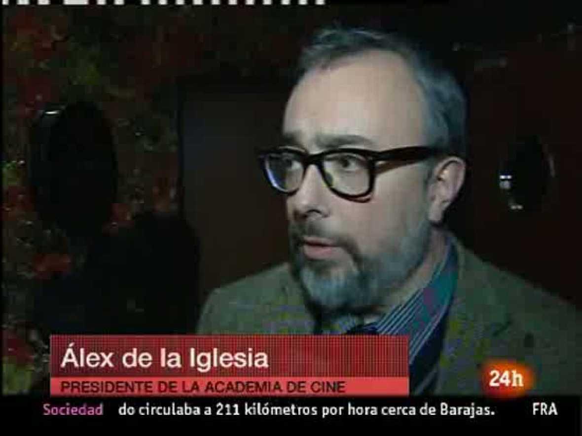 """El presidente de la Academia de Cine, Álex de la Iglesia, ha manifestado en declaraciones a EFE que la ley Sinde es necesaria. Considera que si se rechaza, las principales beneficiarias son las compañías telefónicas y no los usuarios. """"Los político"""